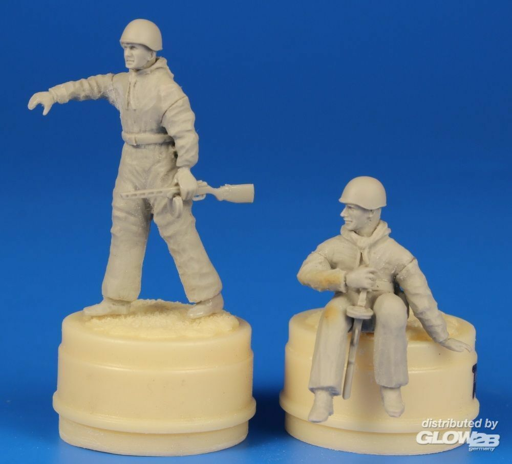 CMK 129-F48294 Soviet Tank Desant Troops,part 2(2 Figur for a T-34 and another tanks in 1:48