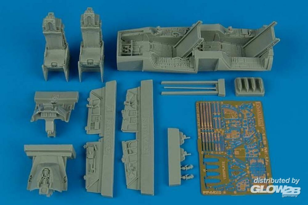 Aires 4428 F-16B MLU Fighting Falcon cockpit set in 1:48