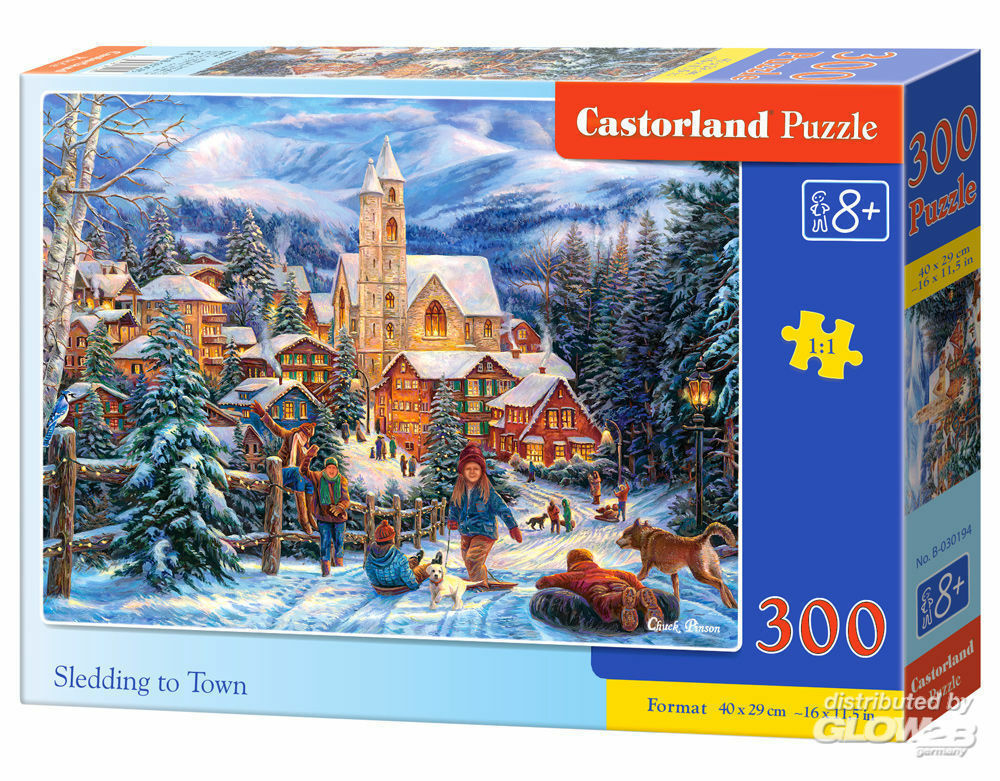 Castorland B-030194 Sledding in Town, Puzzle 300 Teile