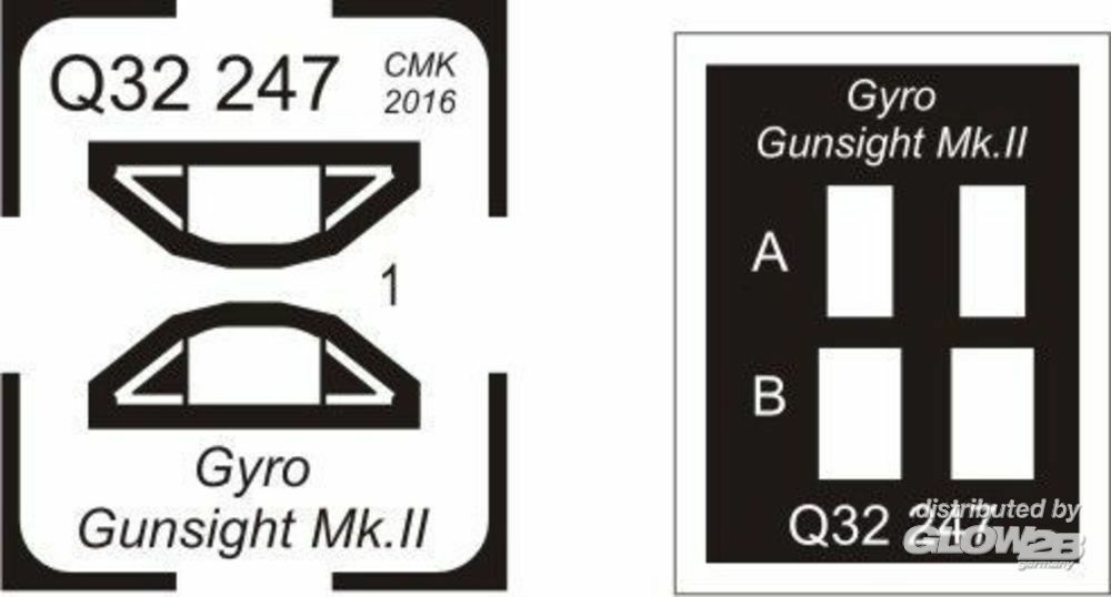 CMK 129-Q32247 Gyro gunsight Mk.II-for late Tempest and other fighters in 1:32