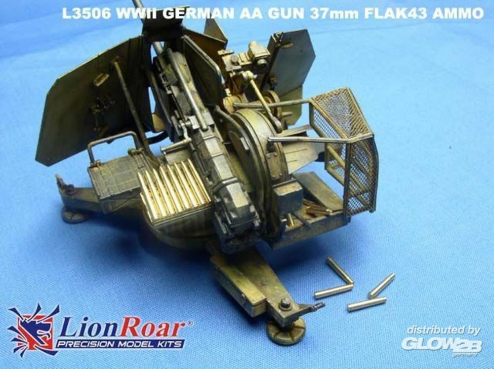 Lion Roar-GreatwallHobby L3506 Ammo & Cartridge case for 37mm Flak 43 in 1:35