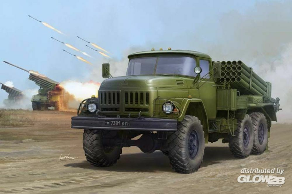 Trumpeter 01032 Russian 9P138 Grad-1 on Zil-131 in 1:35