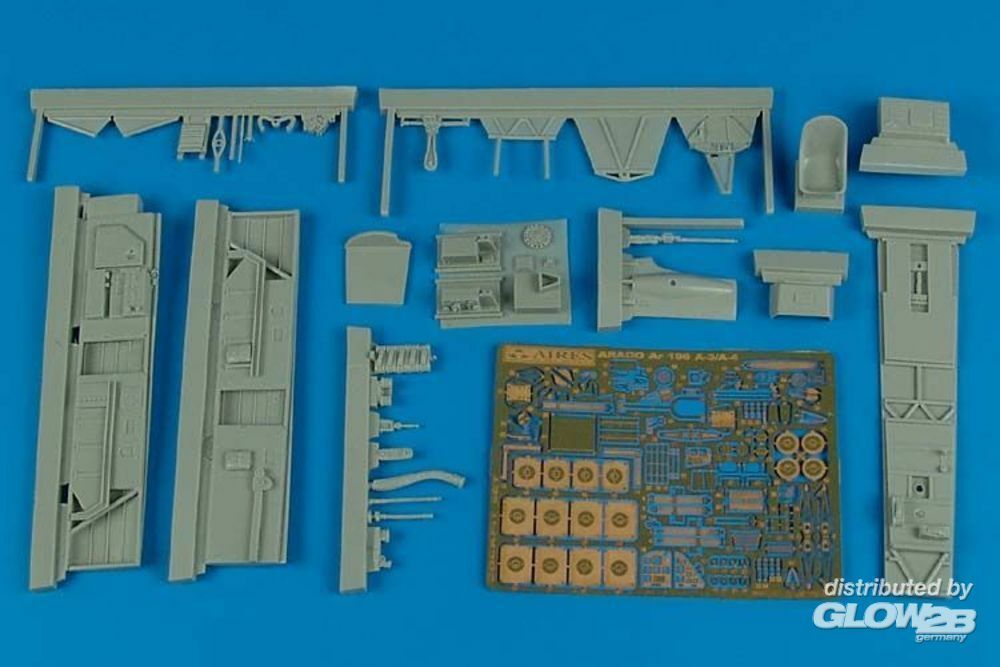 Aires 4498 Ar 196A-3/A-4 cockpit set for Italeri in 1:48