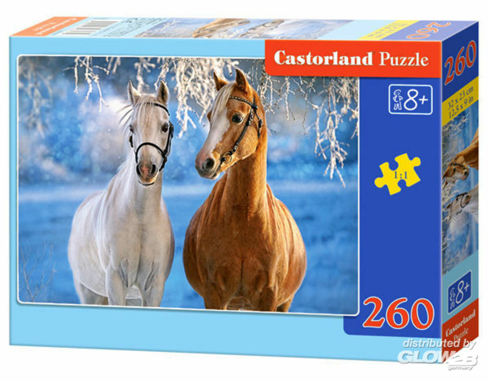 Castorland B-27378-1 The Winter Horses, Puzzle 260 Teile