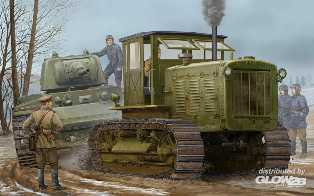 Trumpeter 05539 Russian ChTZ S-65 Tractor with Cab1 in 1:35
