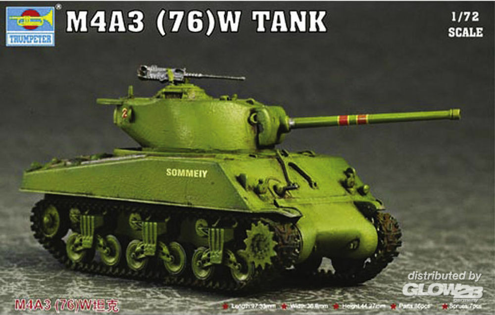 Trumpeter 07226 M4A3 76(W) Tank in 1:72