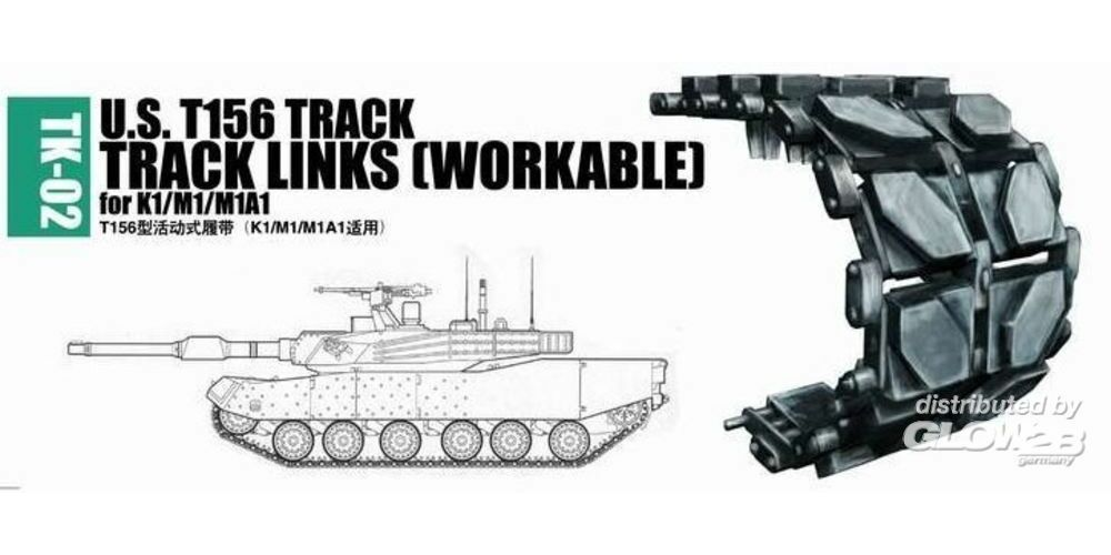 Trumpeter 02032 U.S. T156 track for K1/M1/M1A1