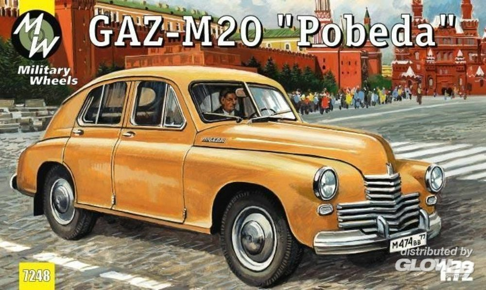 Military Wheels MW7248 GAZ-M20 Pobeda Soviet car in 1:72