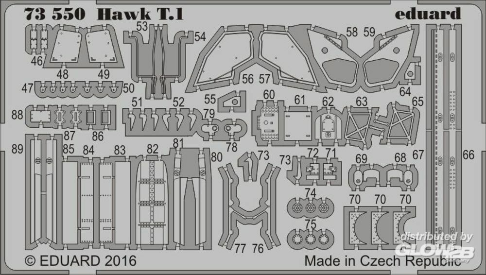 Eduard Accessories 73550 Hawk T.1 for Revell in 1:72