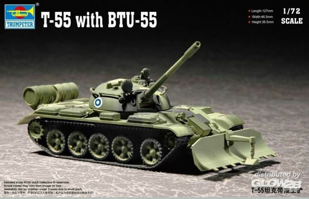 Trumpeter 07284 T-55 with BTU-55 in 1:72