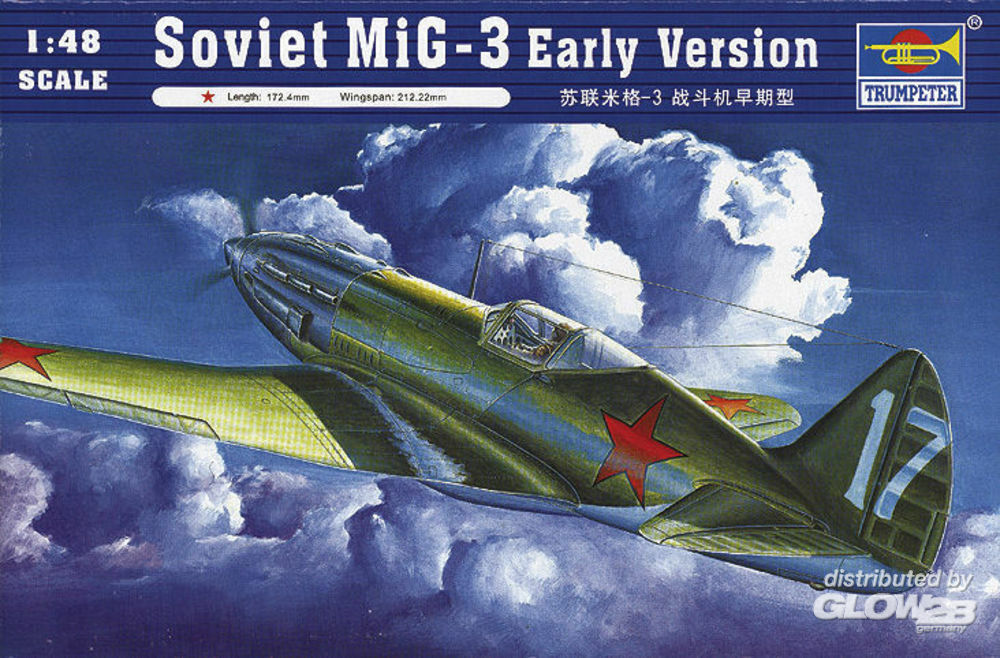 Trumpeter 02830 Soviet MiG-3 Early Version in 1:48