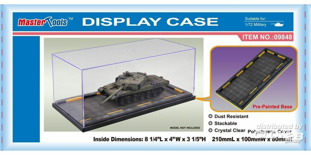 Master Tools 09848 Show Case 210x100x80 mm in 1:72