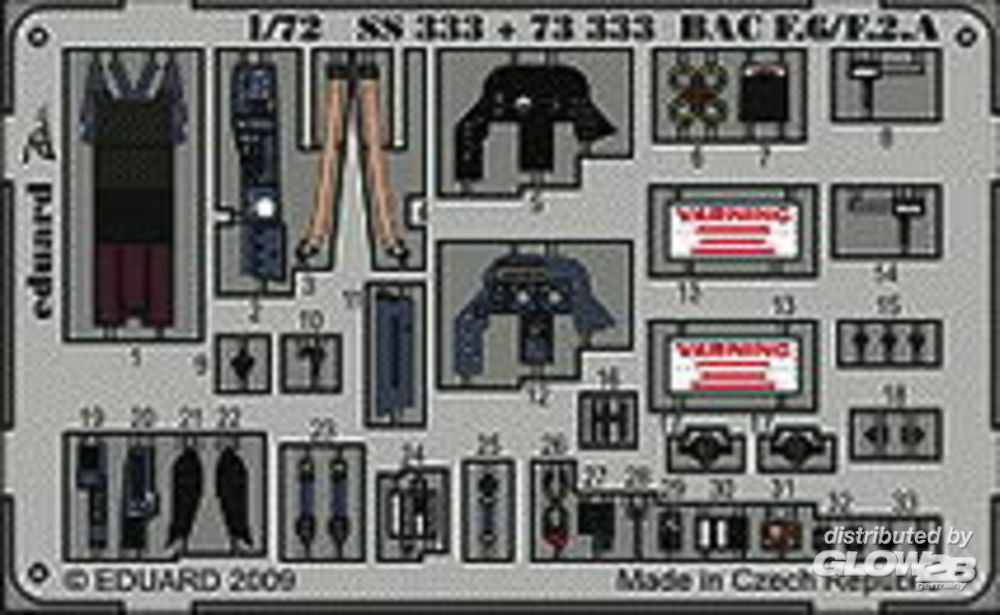 Eduard Accessories 73333 BAC Lightning F.6/F.2A S.A. Trumpeter in 1:72