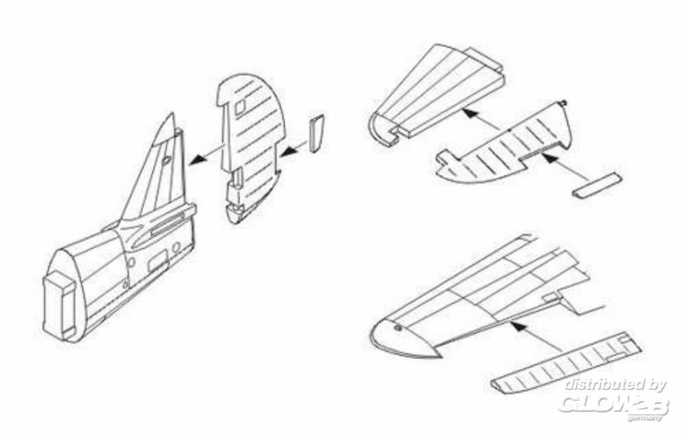 CMK 129-5049 P-40E/K/M/N Warhawk Control surfaces set in 1:32