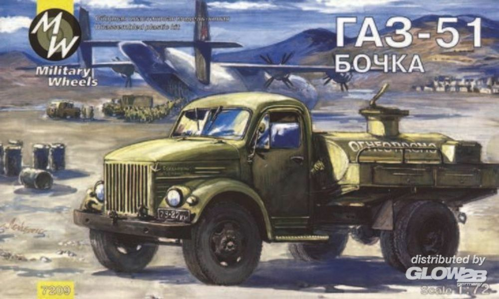 Military Wheels MW7209 AK-2-51-04-PS on the GAZ-51 in 1:72