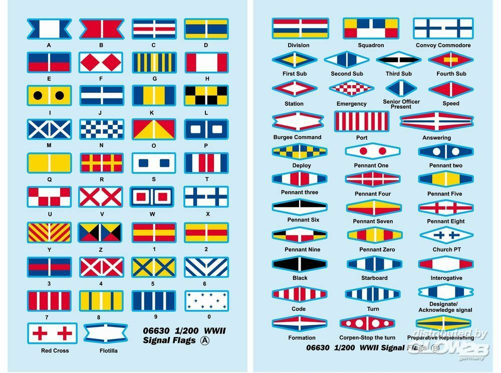 Trumpeter 06630 WWII Signal Flags in 1:200