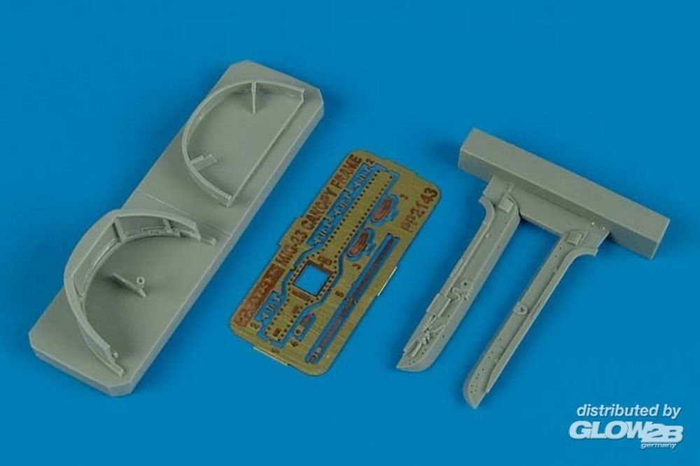 Aires 2143 MiG-23 Flogger canopy frame (TRU) in 1:32