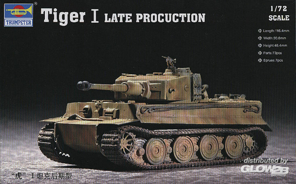 Trumpeter 07244 Tiger 1 Tank (Late) in 1:72