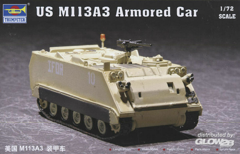 Trumpeter 07240 US M113A3 Armored Car in 1:72