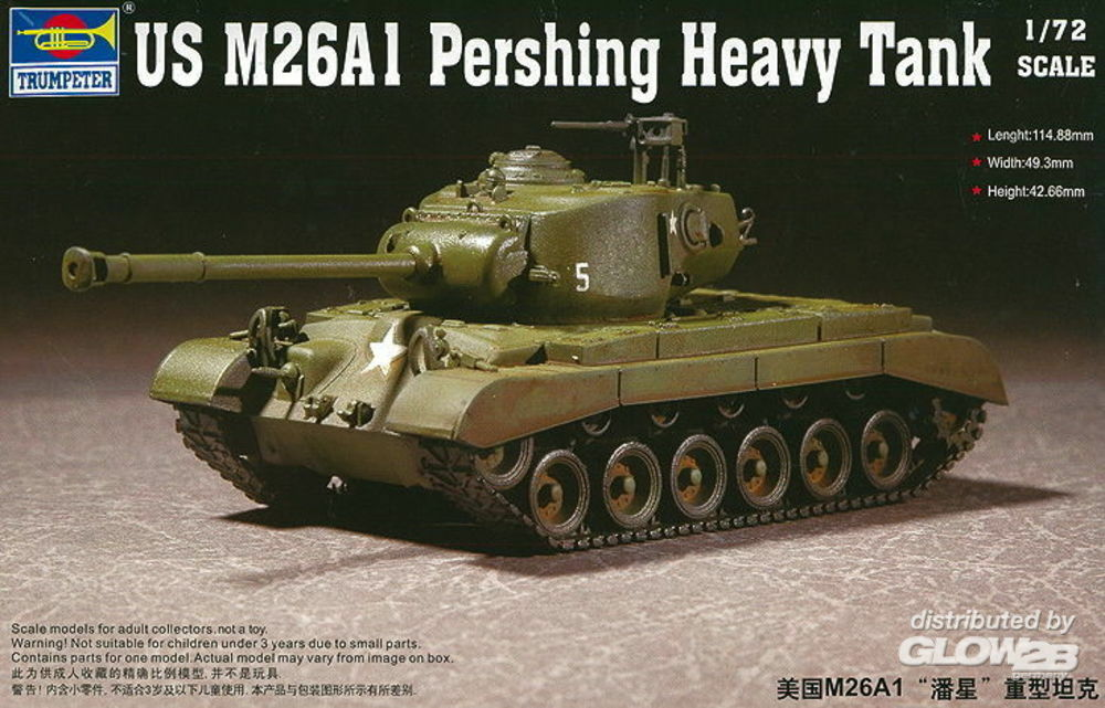 Trumpeter 07286 US M26A1 Heavy Tank in 1:72