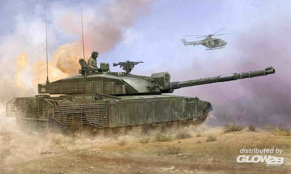 Trumpeter 01522 British Challenger2 with Anti-Heat Fence in 1:35