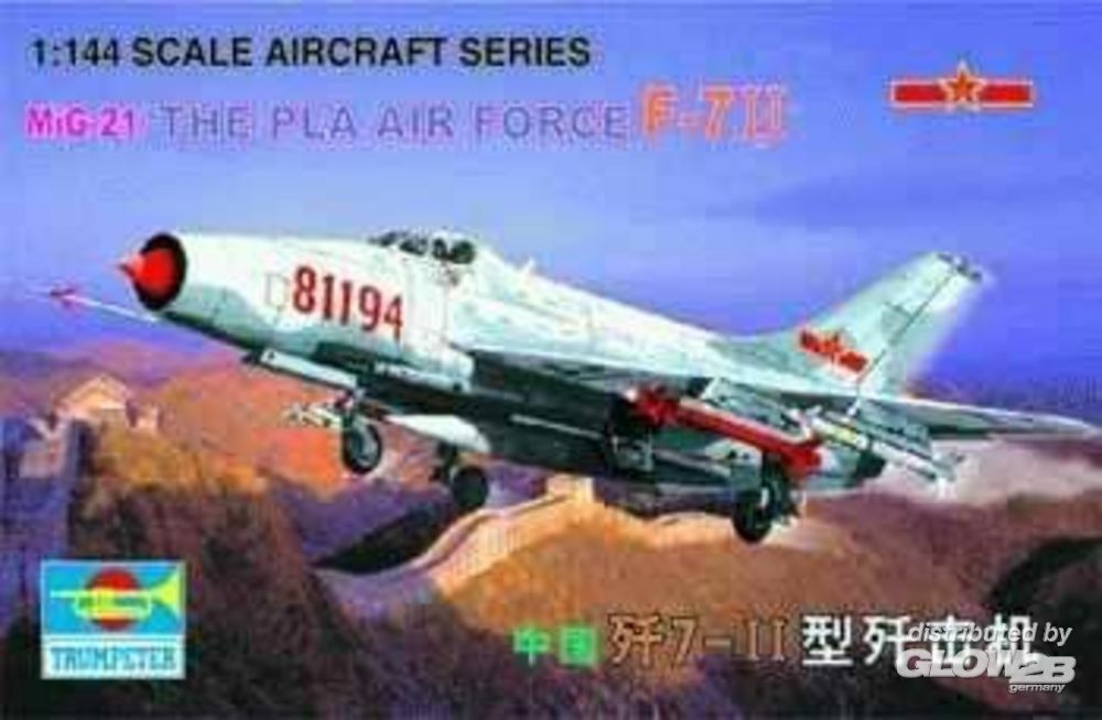Trumpeter 01325 MiG-21 J-711 China (The Pla Airforce) in 1:144