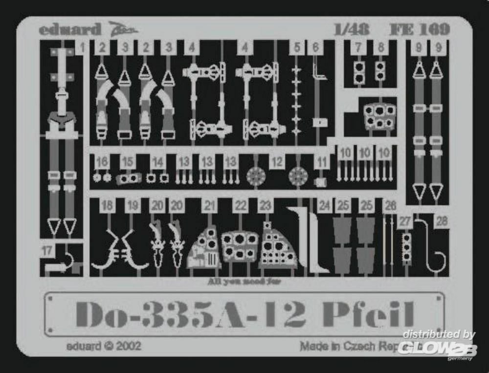 Eduard Accessories FE169 Dornier Do 335A-12 Pfeil in 1:48