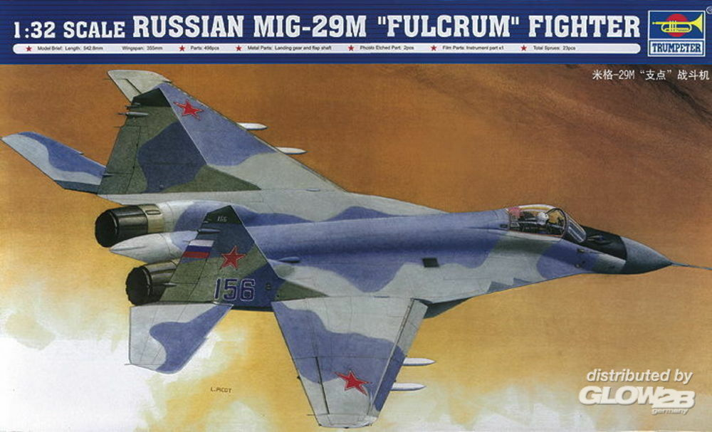 Trumpeter 02238 Russian MiG 29M `Fulcrum` Fighter in 1:32