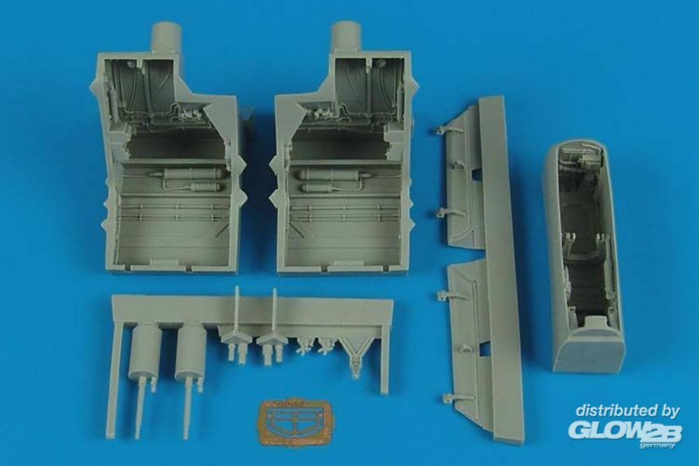 Aires 4500 F-22A Raptor wheel bays for Hasegawa in 1:48
