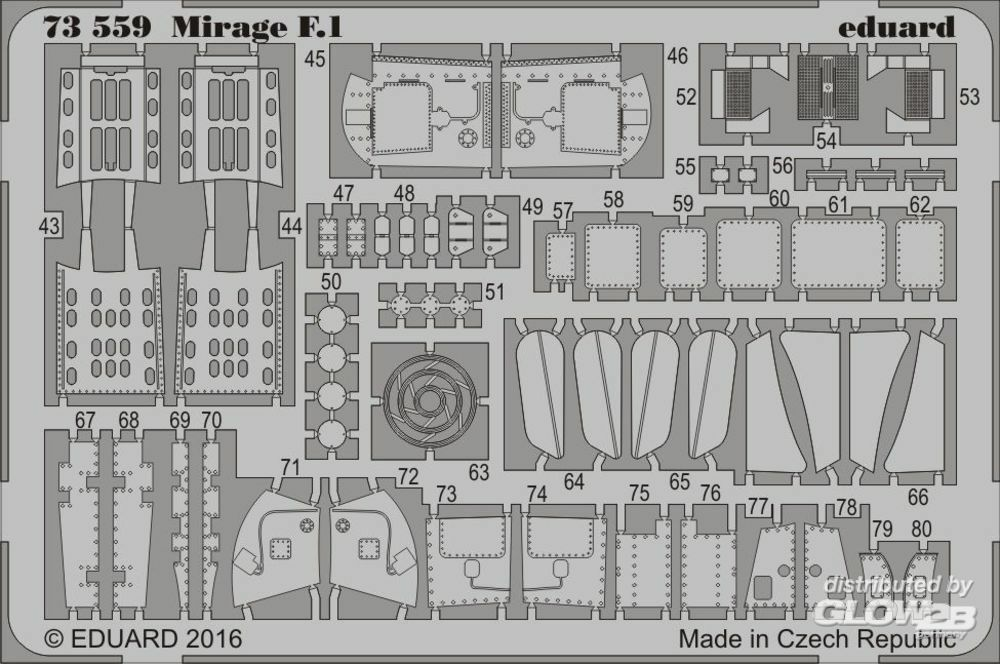 Eduard Accessories 73559 Mirage F.1 for Special Hobby in 1:72
