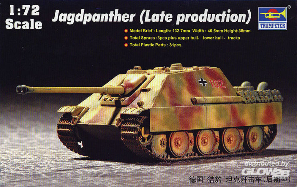 Trumpeter 07272 German Jagdpanther (Late Production) in 1:72