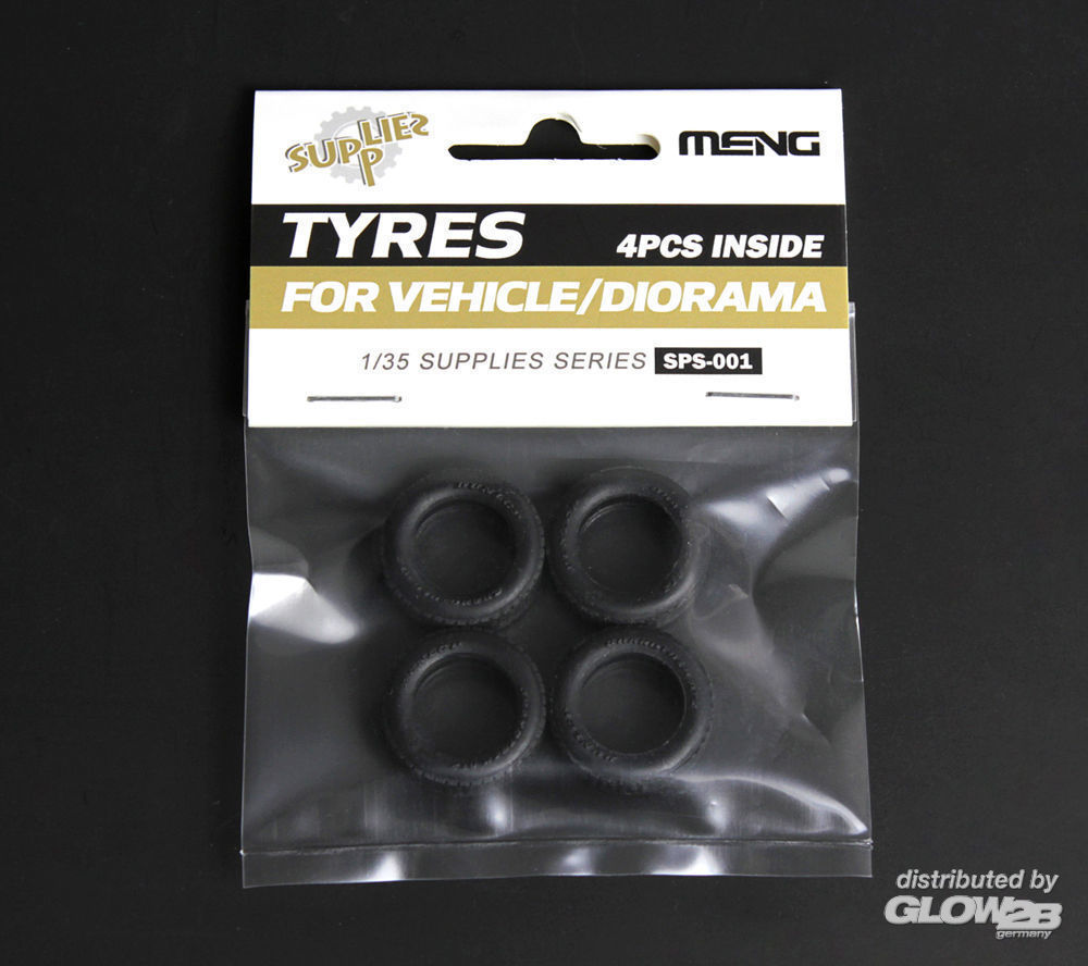 MENG-Model SPS-001 Tyres for Vehicle/Diorama (4pcs) in 1:35