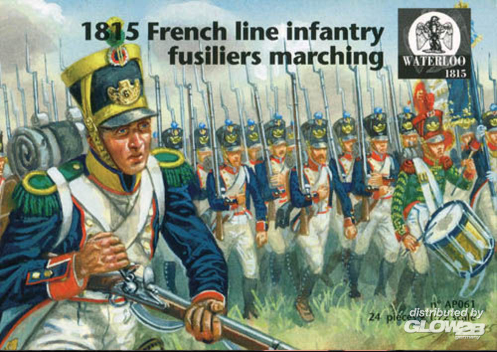 WATERLOO 1815 AP061 1815 French line infantry fusiliers marching in 1:72