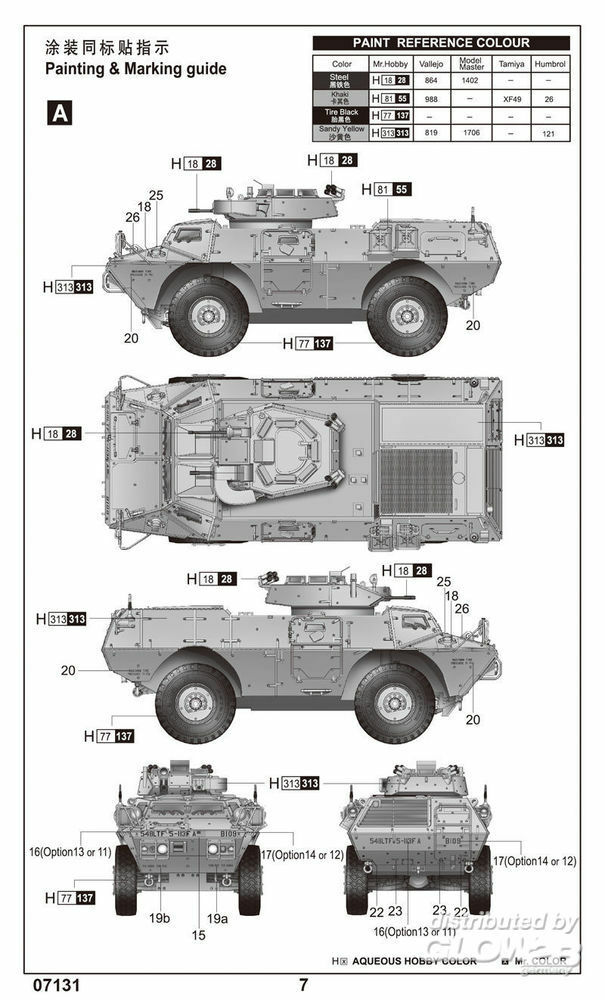 Trumpeter 07131 M1117 Guardian Armored Security Vehicle (ASV) in 1:72