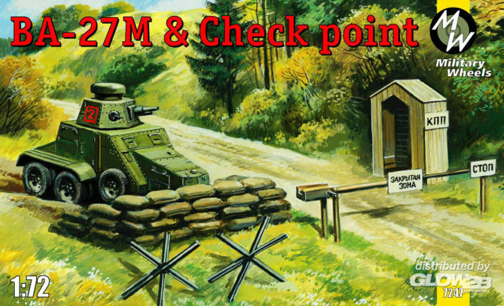 Military Wheels MW7247 Ba-27M & Checkpoint in 1:72