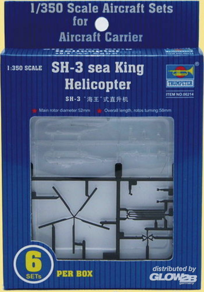 Trumpeter 06214 Sikorsky SH-3H Sea King Helicopter in 1:350