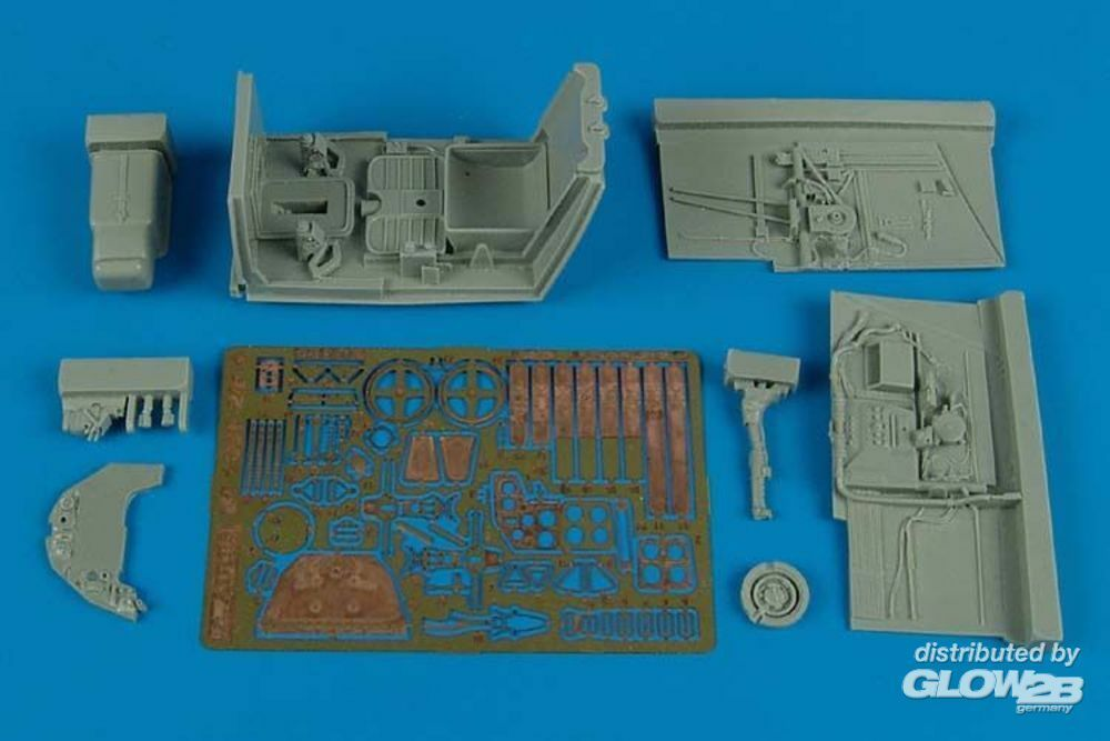 Aires 2144 Bf 109GF-2/F-4 cockpit set for Trumpeter in 1:32
