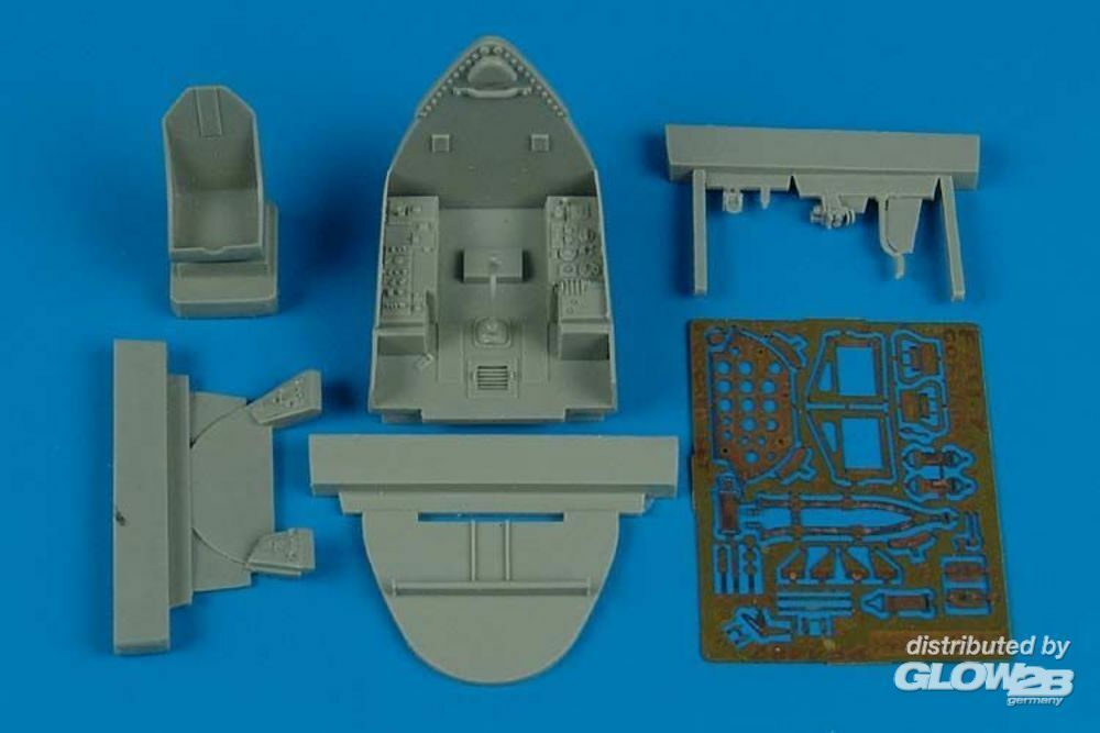 Aires 4482 F4U-7 Corsair cockpit set for Hasegawa in 1:48