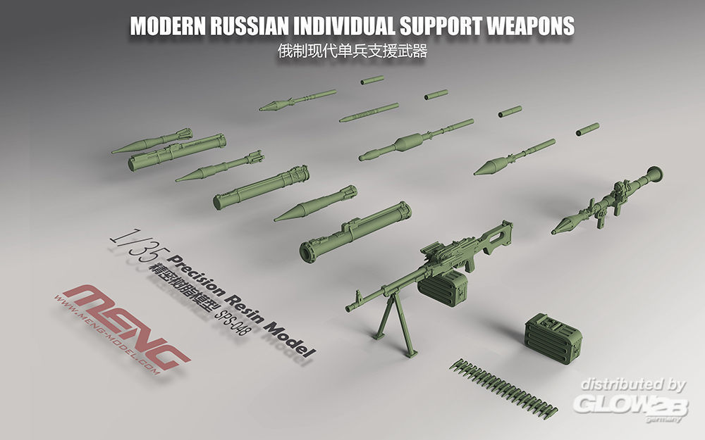MENG-Model SPS-048 Modern Russian Individual Support Weapon (resin) in 1:35