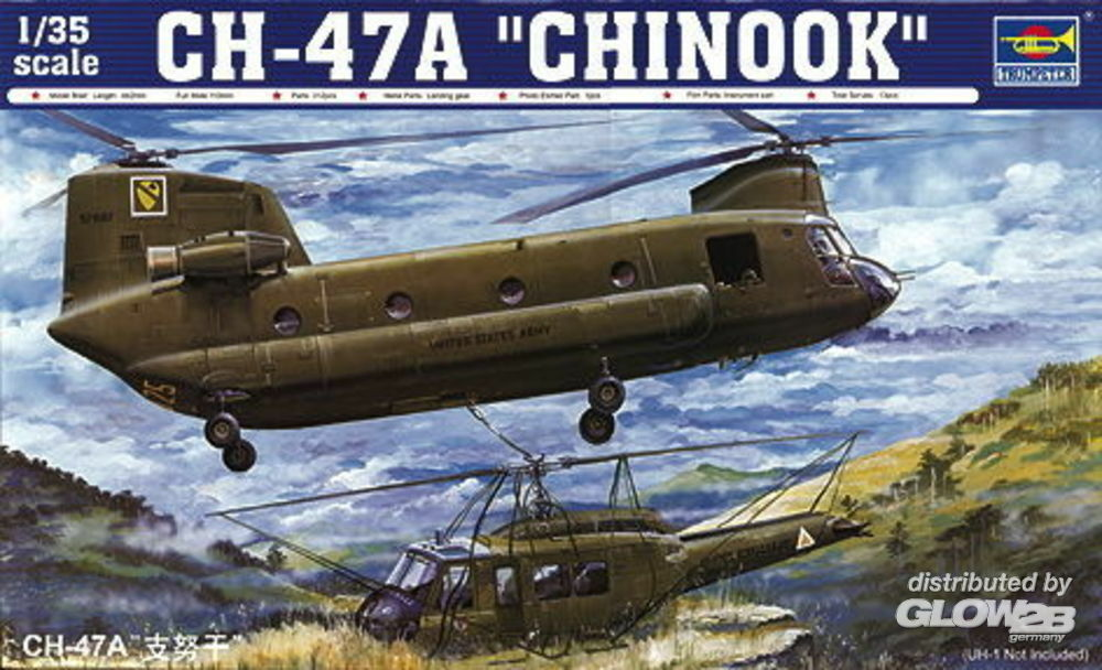 Trumpeter 05104 CH-47A Chinook in 1:35