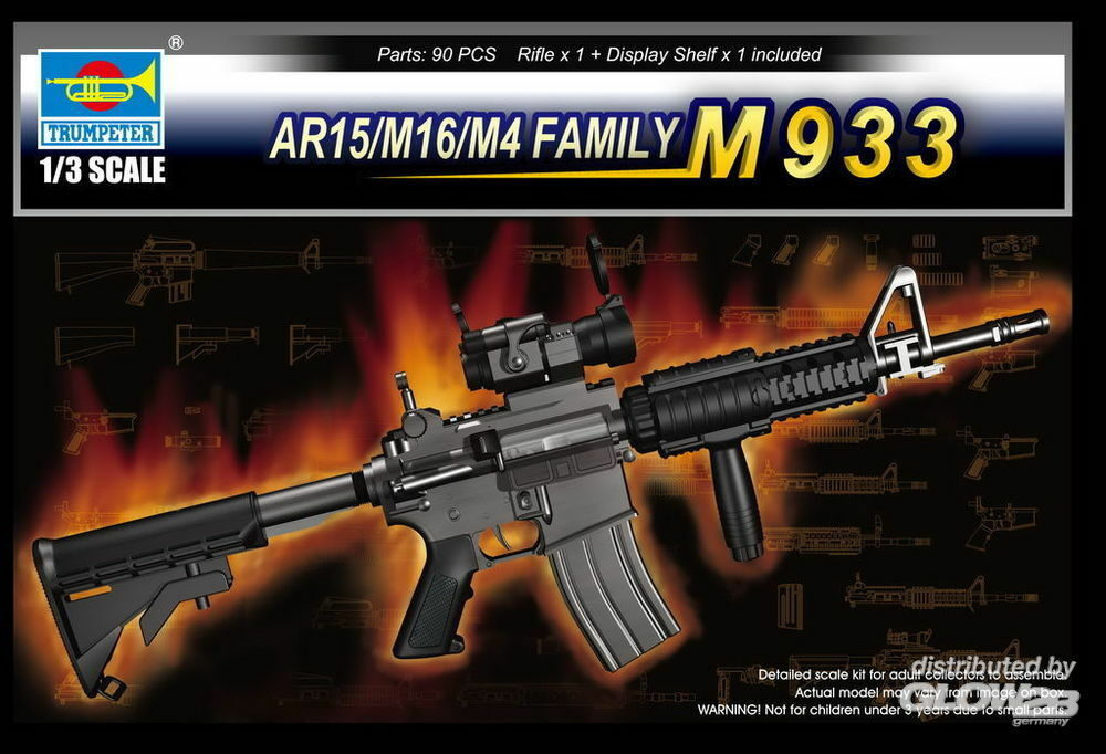 Trumpeter 01917 AR15/M16/M4 FAMILY-M933 in 1:3