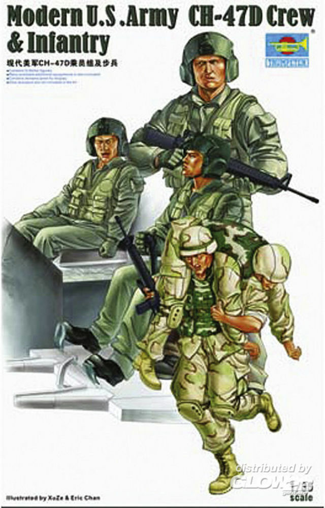 Trumpeter 00415 Modern U.S. Army CH-47D Crew & Infantry in 1:35