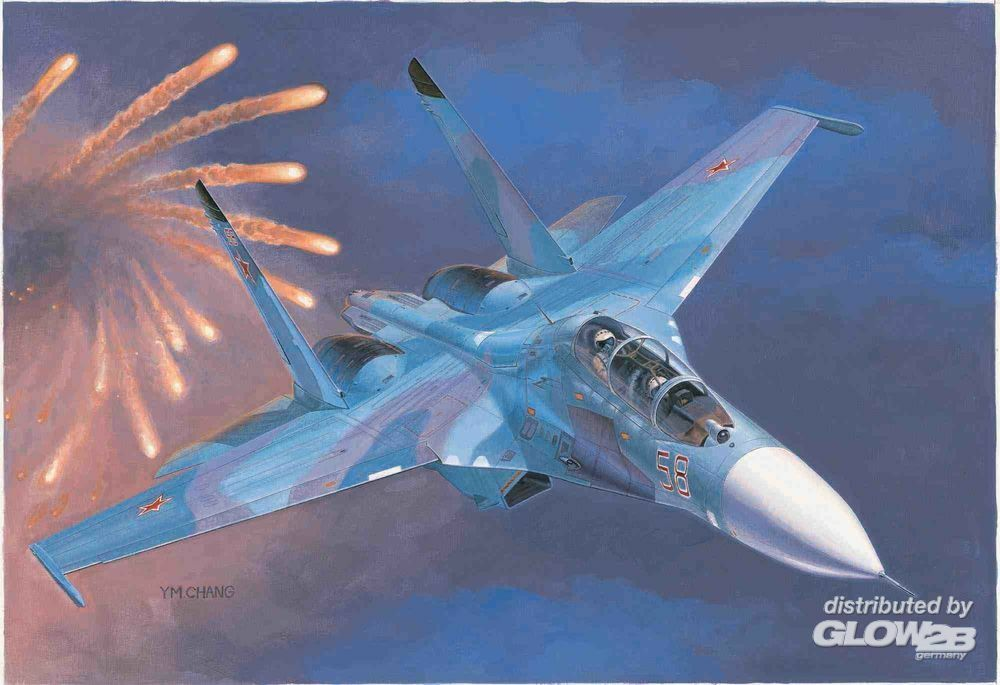 Trumpeter 01645 Russian Su-27UB Flanker C Fighter in 1:72