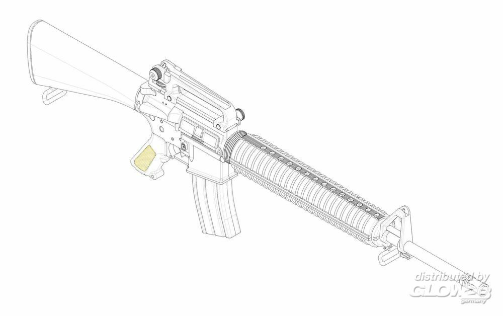 Trumpeter 01911 AR15/M16/M4 FAMILY-M16A3 in 1:3
